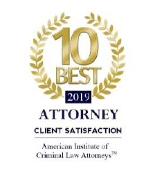 10 Best Attorney Client Satisfaction 2019 - American Institute of Criminal Law Attorneys